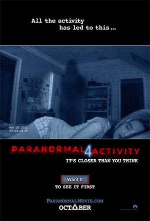 คลิก ดูรายละเอียด Paranormal Activity 4