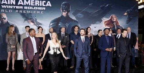งานเปิดตัวหนัง งานเปิดตัวหนังรอบปฐมทัศน์โลก Captain America: The Winter Soldier