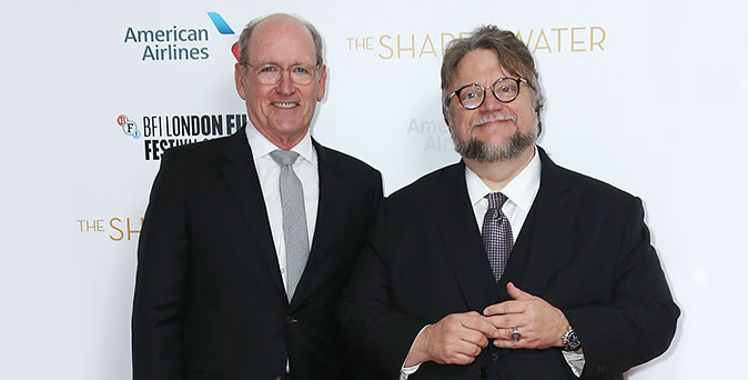 งานเปิดตัวหนัง กิลเลอร์โม่ เดล โทโร่ โปรโมทภาพยนตร์ The Shape of Water ที่กรุงลอนดอน ประเทศอังกฤษ
