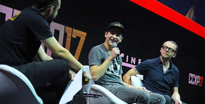 งานเปิดตัวหนัง ไซมอน เพ็กก์, ไท เชอริแดน เดินทางโปรโมท Ready Player One ที่งาน Comic Con Experience 2017
