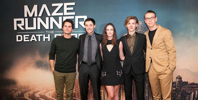 งานเปิดตัวหนัง ผู้กำกับ เวส บอล นำทีมนักแสดง Maze Runner: The Death Cure ร่วมงาน London Fan Screening