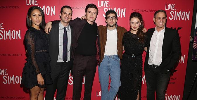 งานเปิดตัวหนัง นิค โรบินสัน นำทีมร่วมงานฉายรอบพิเศษภาพยนตร์ Love, Simon ที่นิวยอร์ก