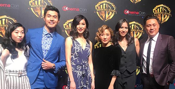 งานเปิดตัวหนัง ผู้กำกับและนักแสดงจาก Crazy Rich Asians ร่วมงาน CinemaCon 2018 ณ ลาสเวกัส