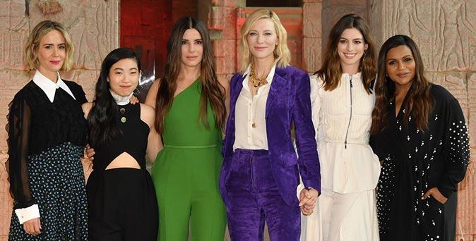 งานเปิดตัวหนัง 6 นักแสดงตัวแม่จาก Ocean's 8 เดินทางโปรโมทภาพยนตร์ที่นิวยอร์ก