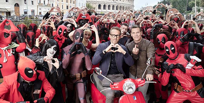 งานเปิดตัวหนัง เดดพูล Vs เคเบิล ปะทะหน้ากันถึงอิตาลี พร้อมเหล่าแฟนคลับล้อมรอบ