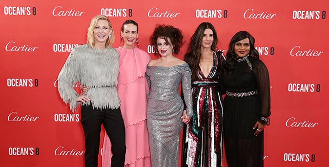 งานเปิดตัวหนัง Ocean's 8 จัดเต็มความยิ่งใหญ่อีกครั้ง กับงานพรีเมียร์เปิดตัวภาพยนตร์ ณ กรุงลอนดอน