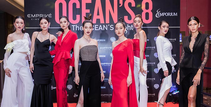 งานเปิดตัวหนัง ดารัณ, ทราย The Face นำทีมฟาดรันเวย์ลุกเป็นไฟ ในงานรอบพิเศษ Ocean's 8 ที่ เอ็มพรีเว่ ซีเนคลับ