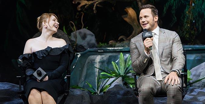 งานเปิดตัวหนัง คริส แพรตต์ และไบรซ์ ดัลลัส โฮเวิร์ด เปิดตัว Jurassic World: Fallen Kingdom ที่เซี่ยงไฮ้