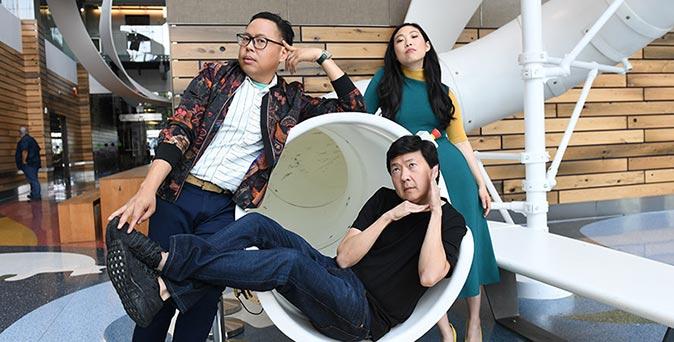 งานเปิดตัวหนัง 3 นักแสดงจาก Crazy Rich Asians เดินทางเปิดตัวภาพยนตร์ ที่ โทรอนโต ประเทศแคนาดา