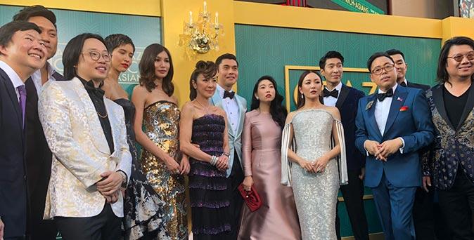 งานเปิดตัวหนัง งานพรีเมียร์เปิดตัวภาพยนตร์คอมเมดี้ Crazy Rich Asians ณ ลอสแอนเจลิส