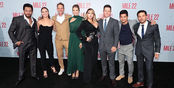 งานเปิดตัวหนัง หลีกทางให้พวกเขา ทีมนักแสดงนำจาก Mile 22 บุก LA เปิดฉากลุยปฏิบัติการฝ่าดงกระสุน
