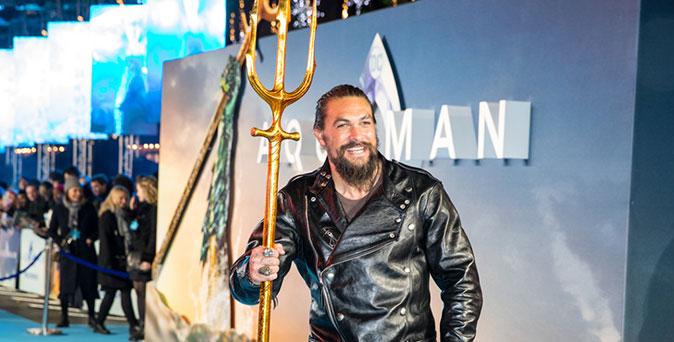 งานเปิดตัวหนัง เจสัน โมมัว นำทีมนักแสดง Aquaman เปิดตัวยิ่งใหญ่ ณ กรุงลอนดอน ประเทศอังกฤษ